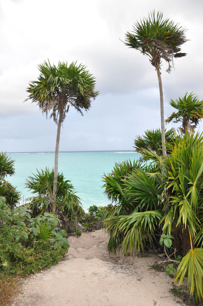 Ahead lies the Caribbean in Tulum
