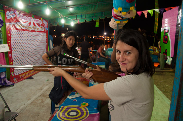 Fun and games during Loi Krathong