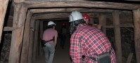 Descending into a coal mine in Lota