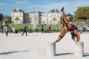 Yoga at Luxembourg Garden in Paris