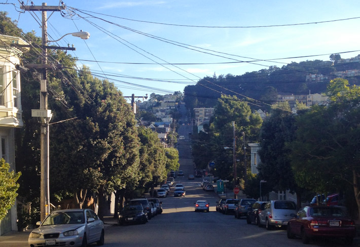 Really steep hills in Noe Valley