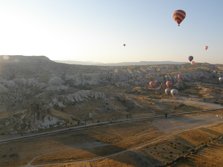 Balloons over Cappadocia in the early morning