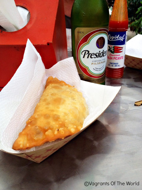 Typical pastelillo in Puerto Rico