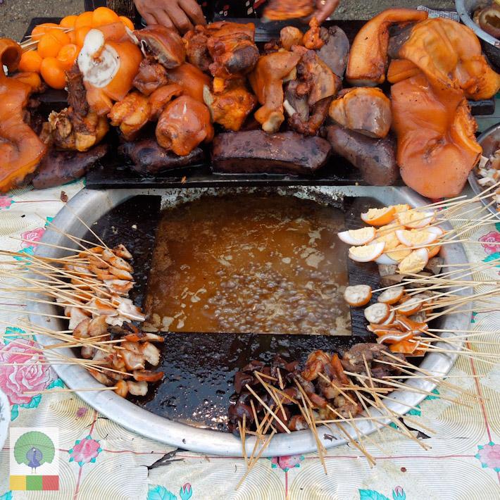 Pork hot pot - Wat Thar Dote Htoe in Myanmar