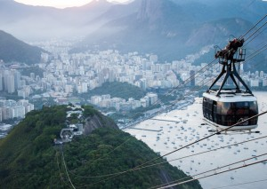 The cable car that took us up in Rio