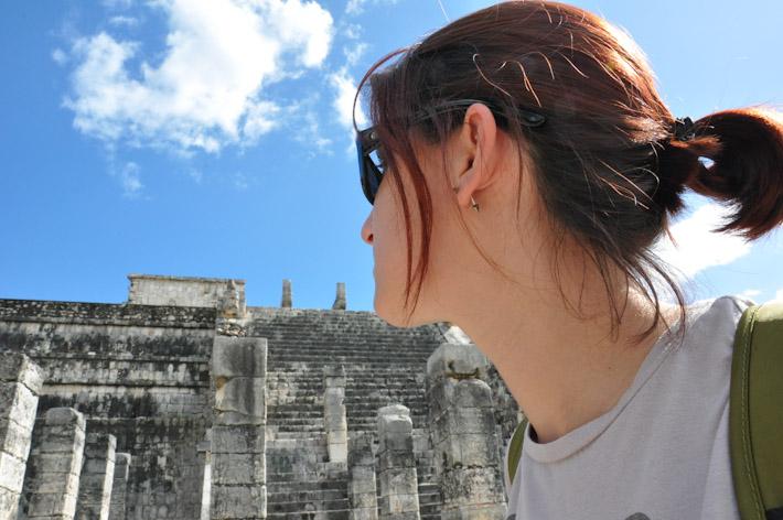 Exploring Mayan ruins
