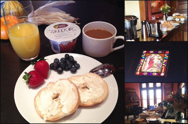 Continental breakfast at The Payne Mansion Hotel