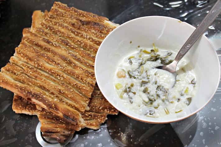 Ashe Mast: Iranian yoghurt soup
