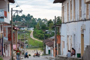 In the town of Salento, Colombia