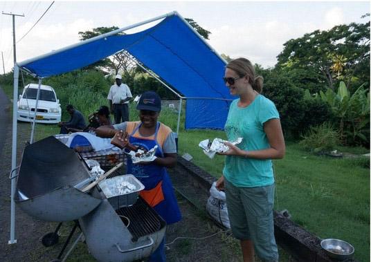 Street food in Grenada
