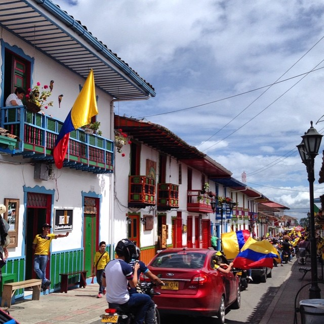 Fuerza Tricolor celebrations in Salento, Colombia