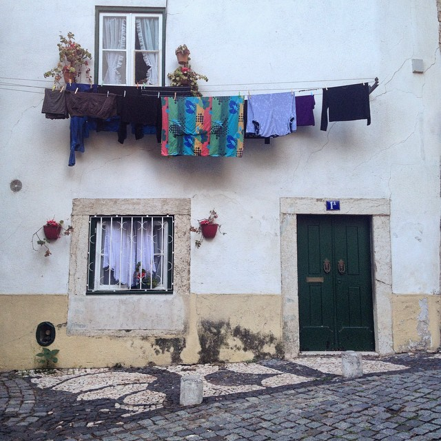 Traditional house inside Castelo de Sao Jorge, Lisbon