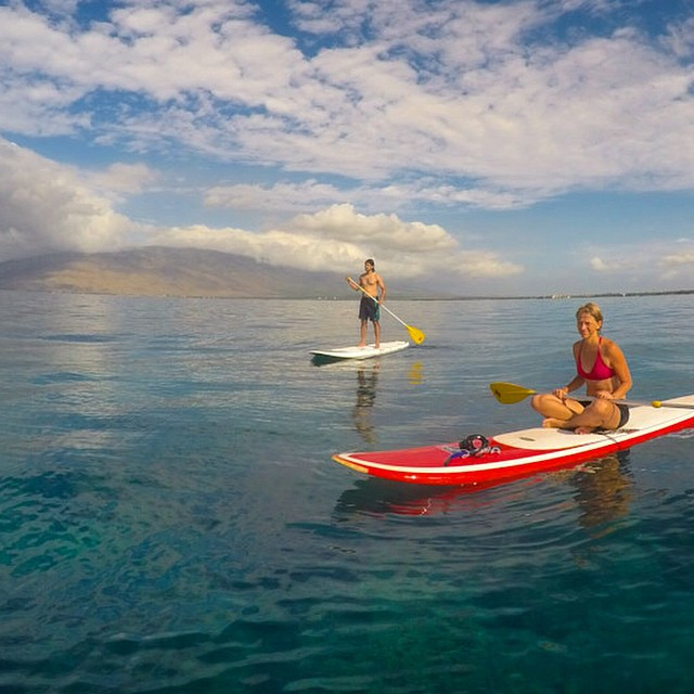 Stand up paddle in Maui, Hawaii