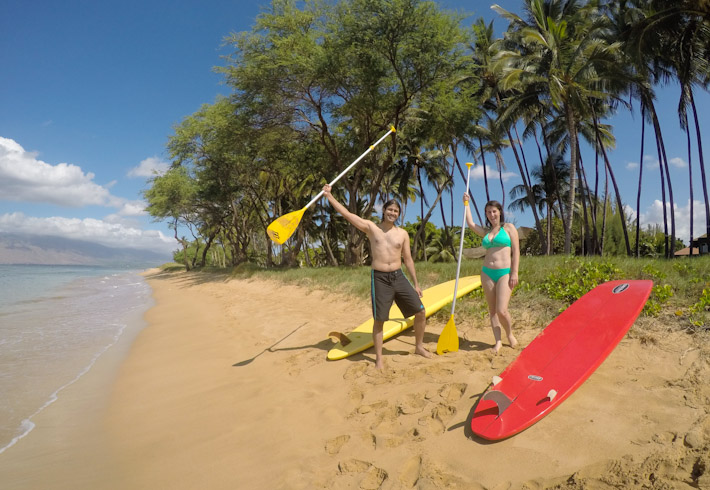 Stand-up paddle class with Makena in Maui