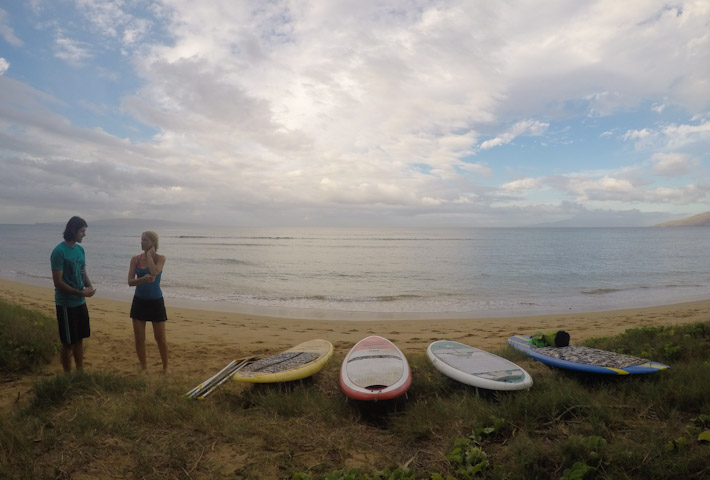 Perfect early morning, for a stand-up paddle class