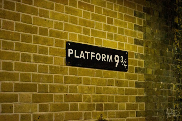 Platform 9 3/4 from Harry Potter