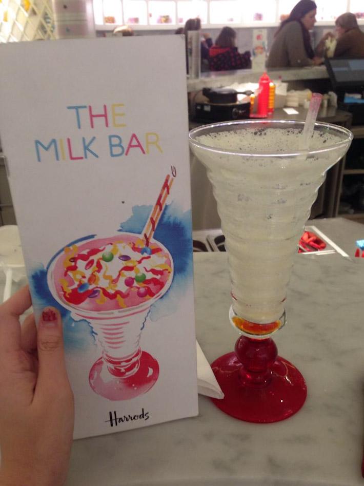 The Milky Bar at Harrod's