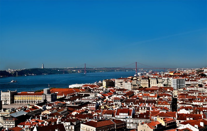 View of Lisbon from the Deluxe Suite at Solar dos Mouros