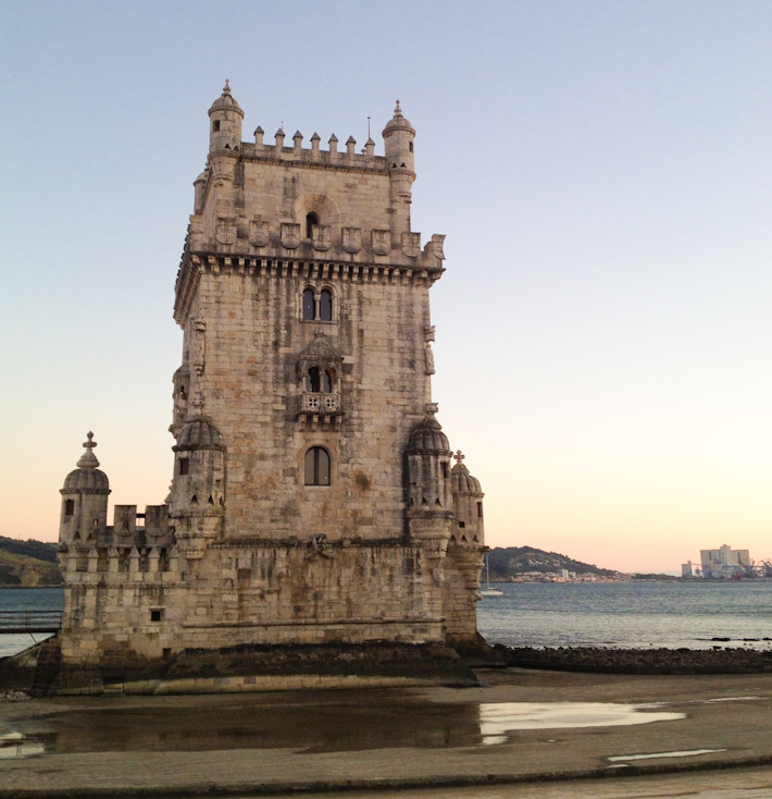 Belem Tower during low tide