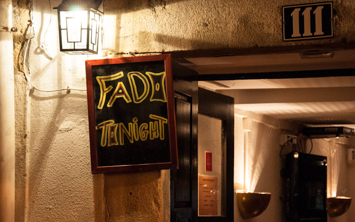 Small Fado bar in Alfama