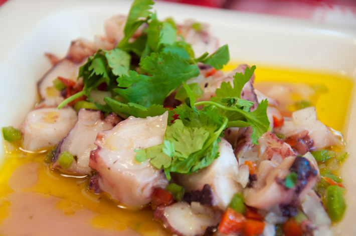 Typical Portuguese food: octopus salad