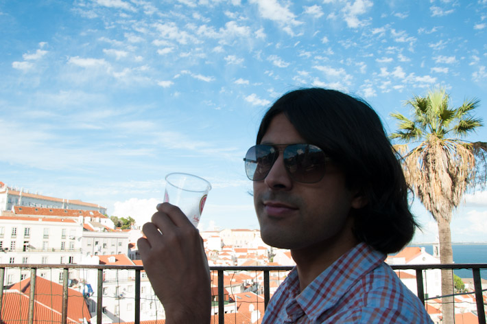 A drink with a view, in Lisbon