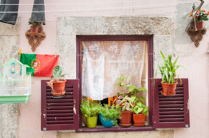 Window in a typical neighborhood of Lisbon