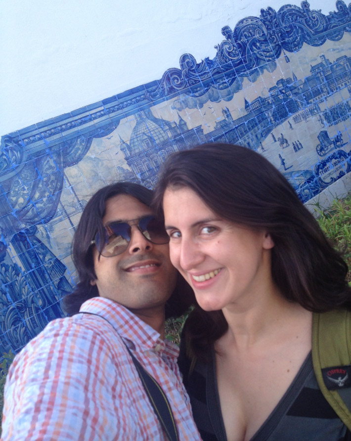 Admiring Portuguese tile art is free too!