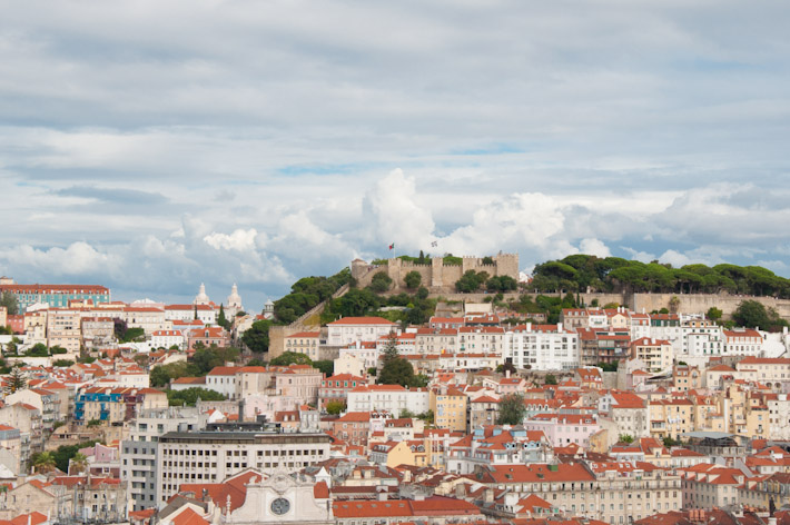 View of Sao Jorge's Castle in Lisbon