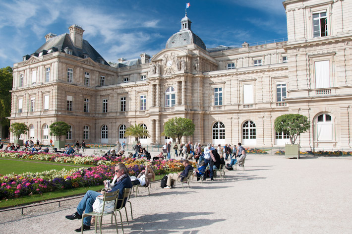 Locals and tourists enjoy a sunny day out at Luxembourg Gardens