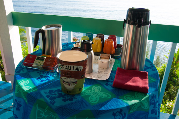 Hawaii Island coffee and morning tea