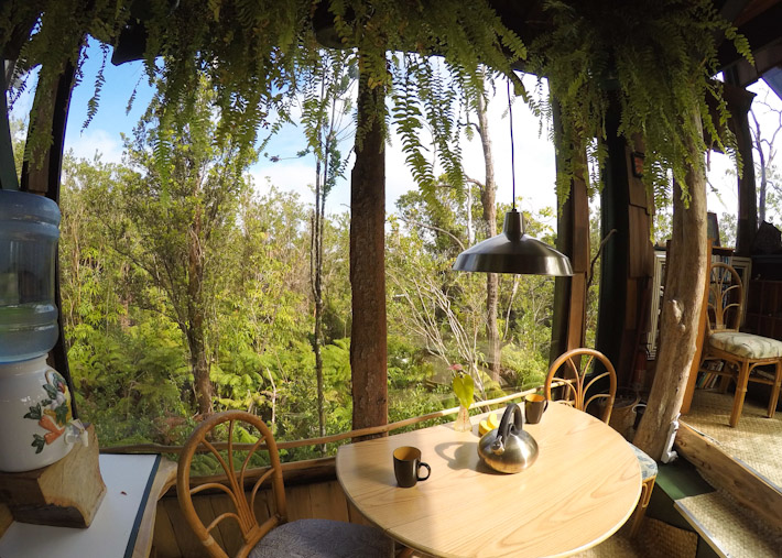 Treehouse dining area