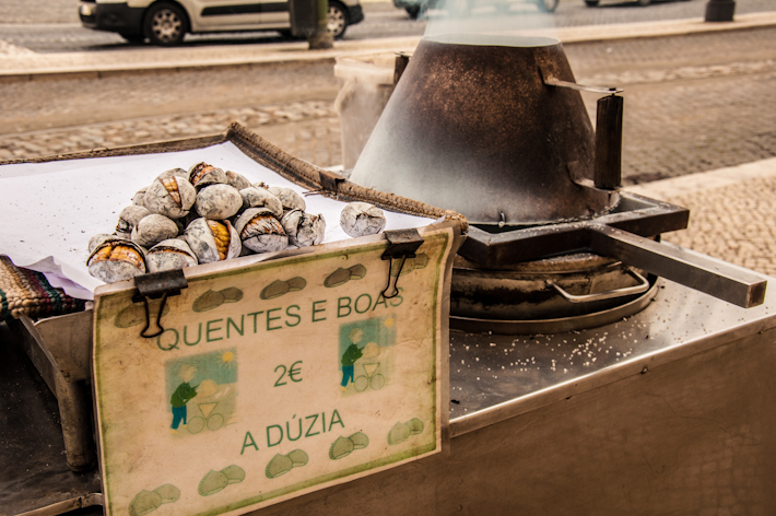 Roasted Chestnuts in Lisbon