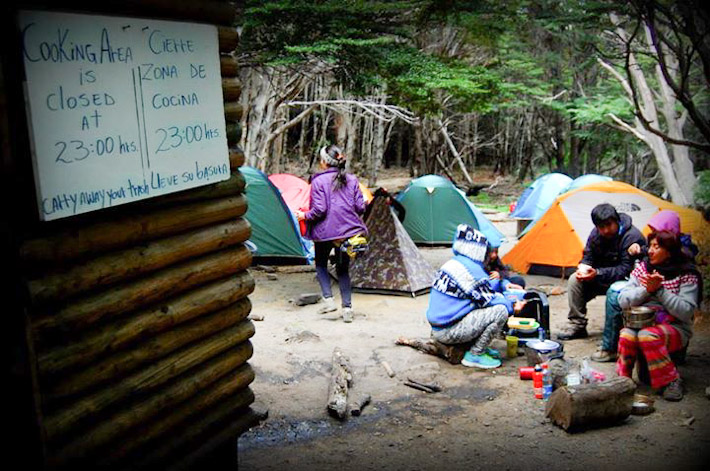Cooking allowed in designated areas only on camp stoves