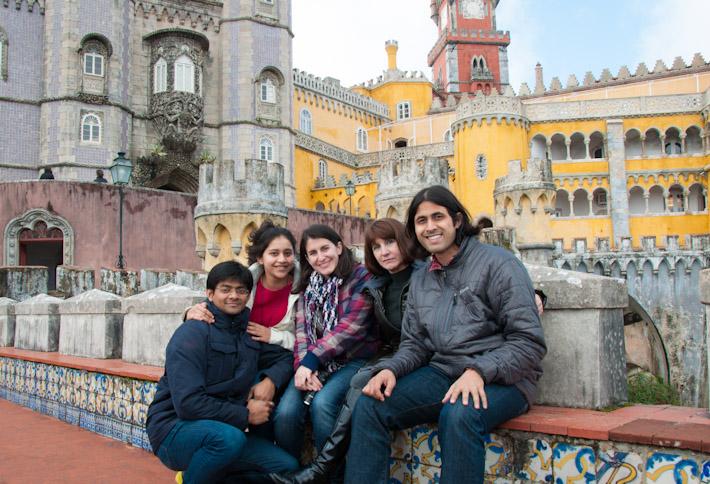 Group photo at Pena Palace