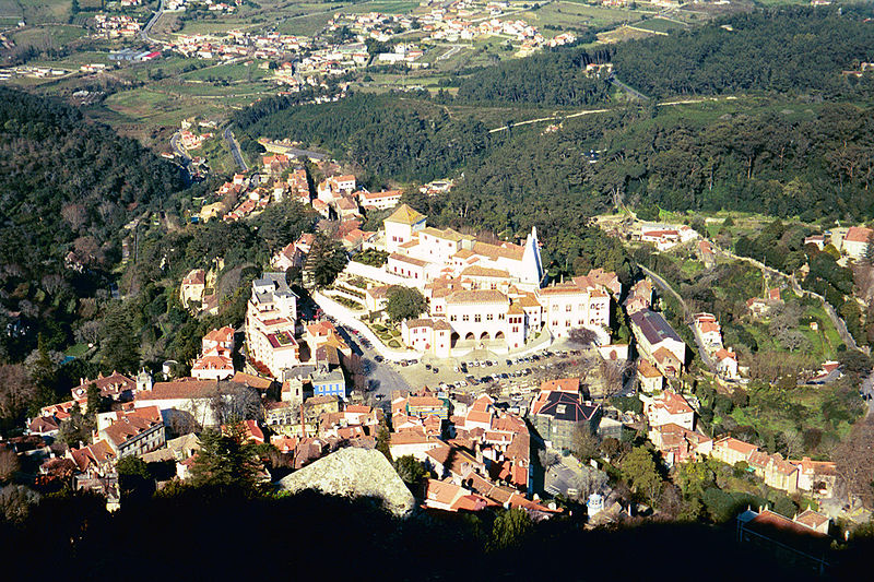 View of Sintra from the Castle of the Moors [photo by Chris Yunker]
