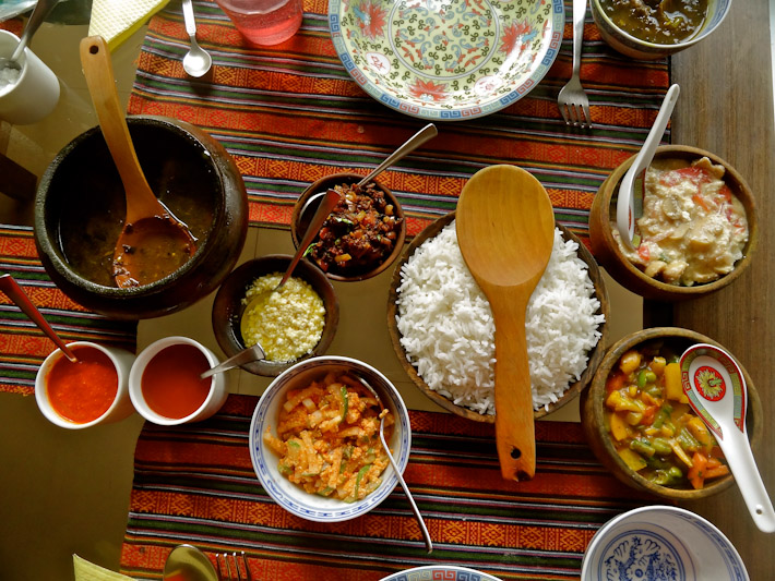 A traditional Sikkimese meal