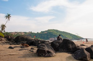 Idyllic Vagator Beach in Goa