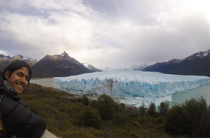 Ashray at Glaciar Perito Moreno, Argentina