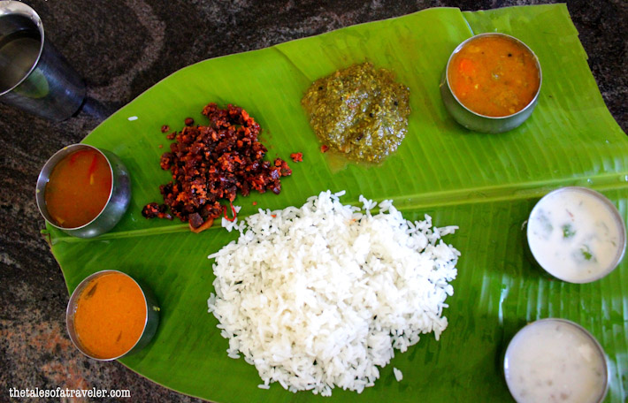 South Indian Thali (read: Thalee)