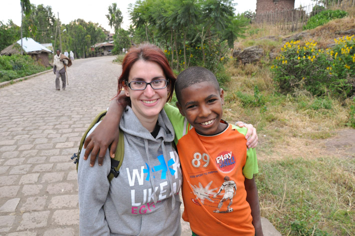 Hanging out with a local kids in the streets of Lalibela, Ethiopia. When you travel, you never know when you're going to meet someone so cool!