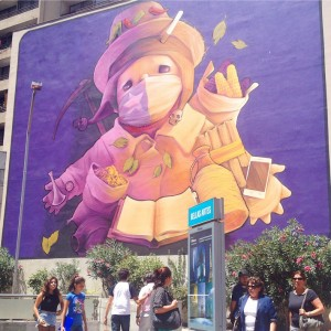Street Art Bellas Artes Metro Santiago Chile