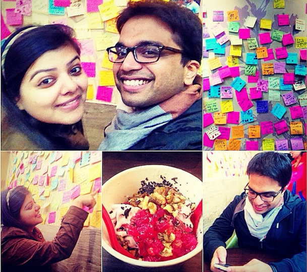 Ayush and Sheena out for froyo in India