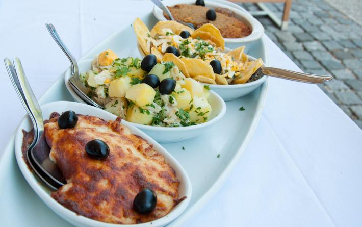 Portuguese codfish platter