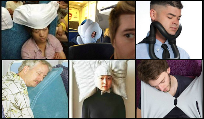 Sleeping on a flight is NOT a sexy thing!