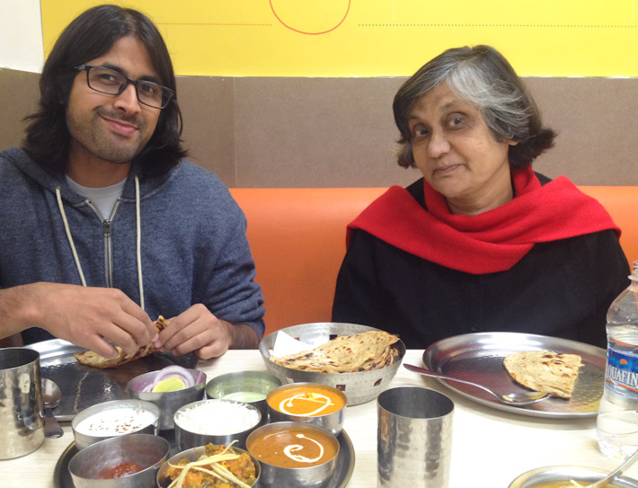 It's family and thali time in New Delhi