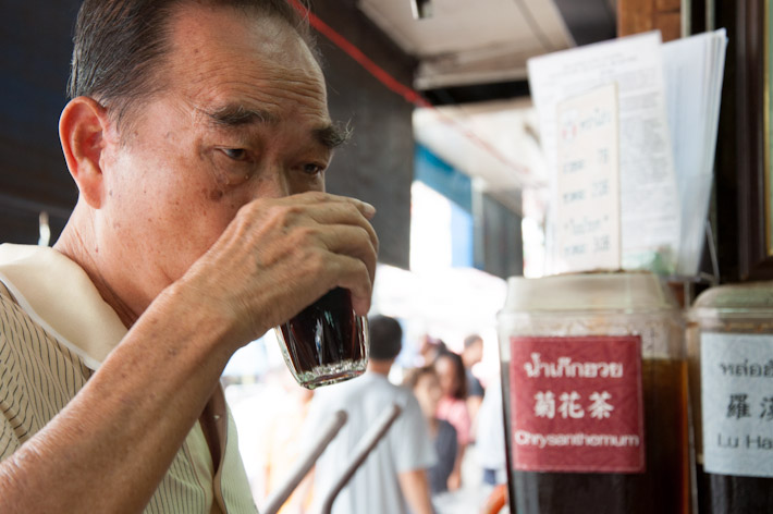 Sipping herbal drinks in a 80-year-old shophouse