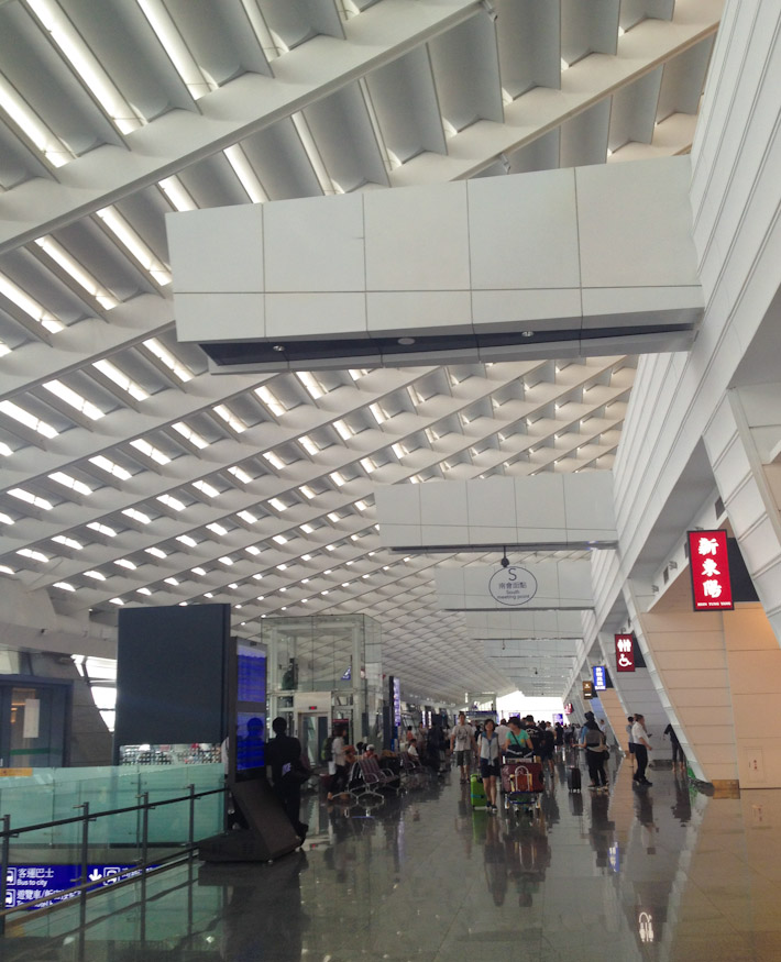 Arrivals at Taiwan Taoyuan International Airport