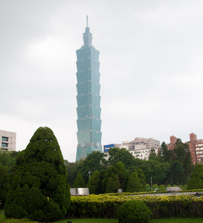 Taipei 101, the second tallest building in the world
