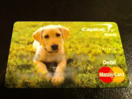 Cute Capital One debit card